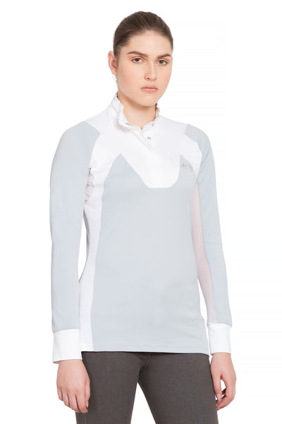 Equine Couture Ladies Chelsea Long Sleeve Show Shirt - Equine Couture - Breeches.com