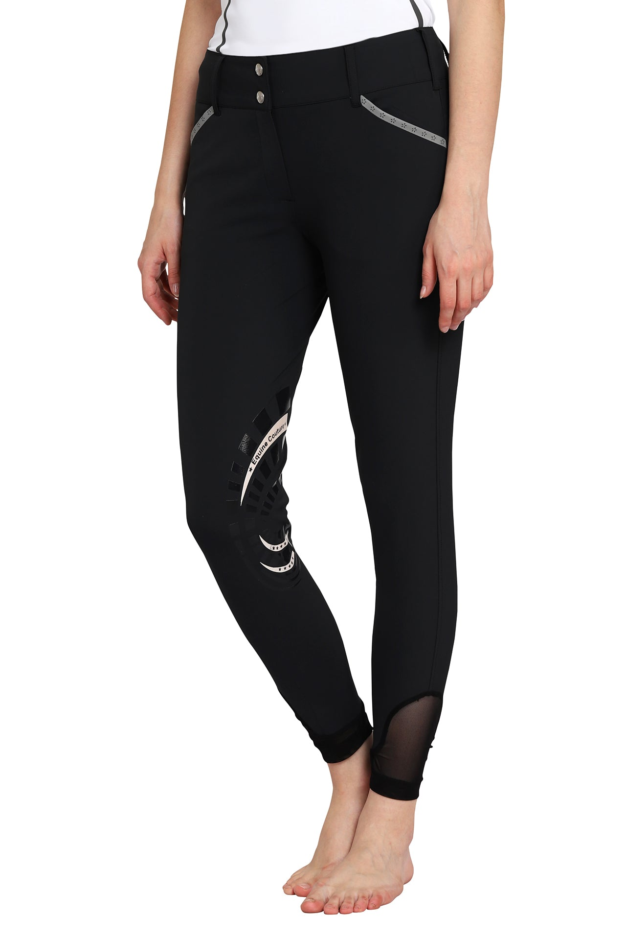 EQUINE COUTURE LADIES MALTA KNEE PATCH BREECHES - Breeches.com