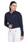 Equine Couture Ladies Performance Long Sleeve Polo Sport Shirt_3