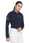 Equine Couture Ladies Performance Long Sleeve Polo Sport Shirt_2