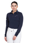 Equine Couture Ladies Performance Long Sleeve Polo Sport Shirt_1