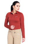 Equine Couture Ladies Performance Long Sleeve Polo Sport Shirt_9