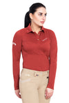Equine Couture Ladies Performance Long Sleeve Polo Sport Shirt_8