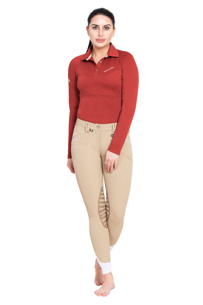 Ladies Performance Long Sleeve Polo Sport Shirt - Equine Couture - Breeches.com