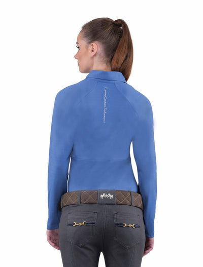 Equine Couture Ladies Performance Long Sleeve Polo Sport Shirt_18