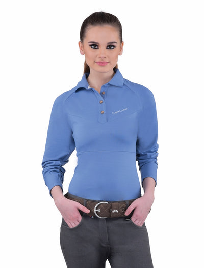 Equine Couture Ladies Performance Long Sleeve Polo Sport Shirt_14