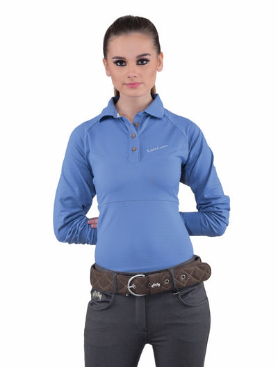 Equine Couture Ladies Performance Long Sleeve Polo Sport Shirt_15