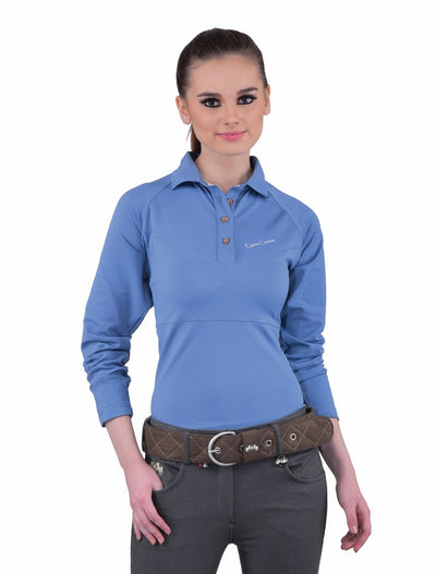 Equine Couture Ladies Performance Long Sleeve Polo Sport Shirt_13