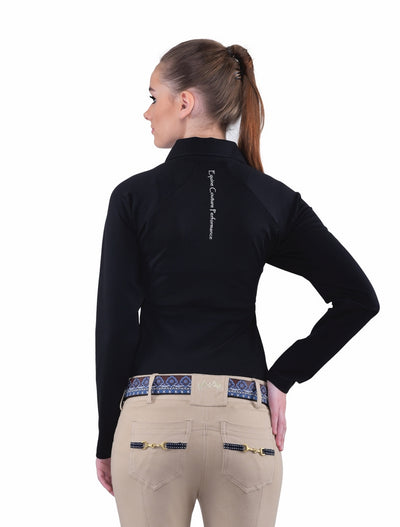 Equine Couture Ladies Performance Long Sleeve Polo Sport Shirt_24