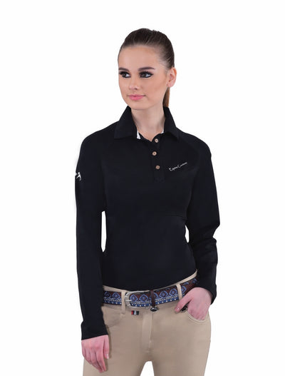 Equine Couture Ladies Performance Long Sleeve Polo Sport Shirt_20