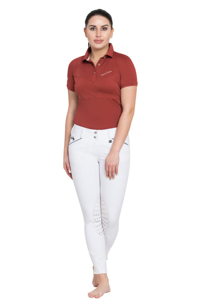 Equine Couture Ladies Performance Short Sleeve Polo Sport Shirt - Breeches.com