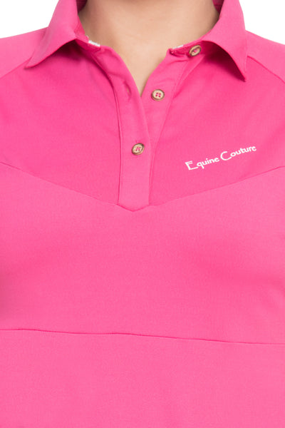 Equine Couture Ladies Performance Short Sleeve Polo Sport Shirt_27