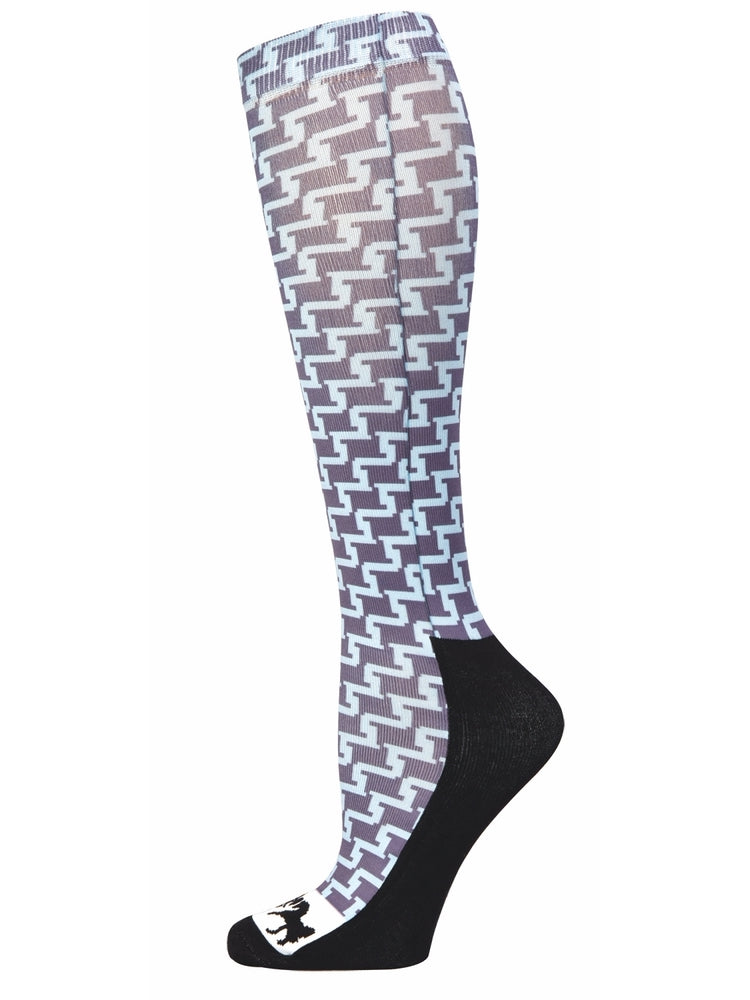 Equine Couture Ladies Geo Padded Knee Hi Boot Socks - Equine Couture - Breeches.com