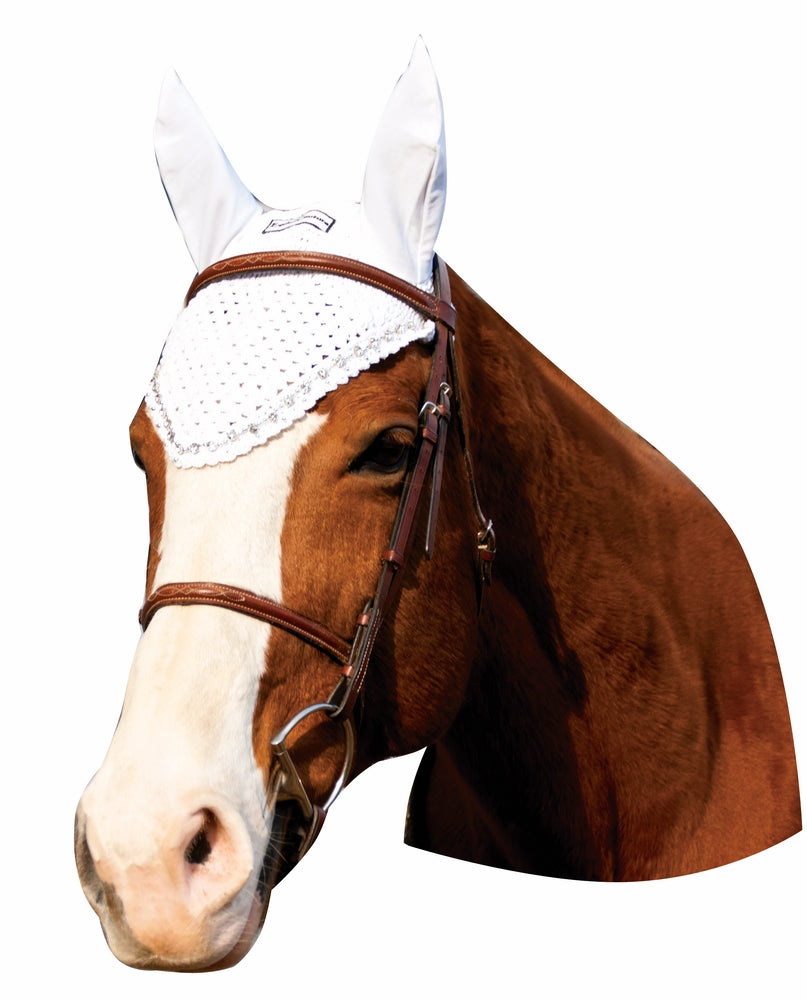 Equine Couture Fly Bonnet with Crystals - Breeches.com