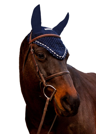 Equine Couture Fly Bonnet with Crystals - Equine Couture - Breeches.com
