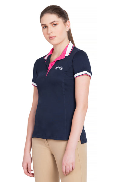 Equine Couture Ladies Kirsten Short Sleeve Polo Sport Shirt - Equine Couture - Breeches.com