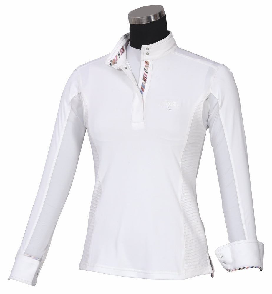 Equine Couture Ladies Cara Long Sleeve Show Shirt - Breeches.com
