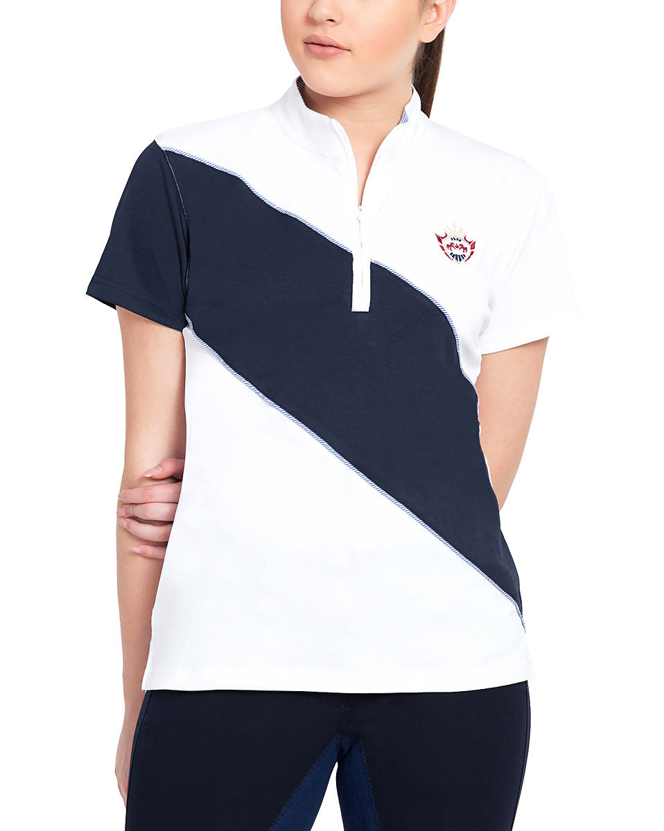 Equine Couture Ladies Danvers Short Sleeve Sport Shirt_1