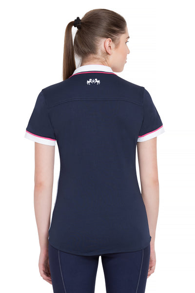 Equine Couture Ladies Pearl Short Sleeve Polo Sport Shirt - Breeches.com