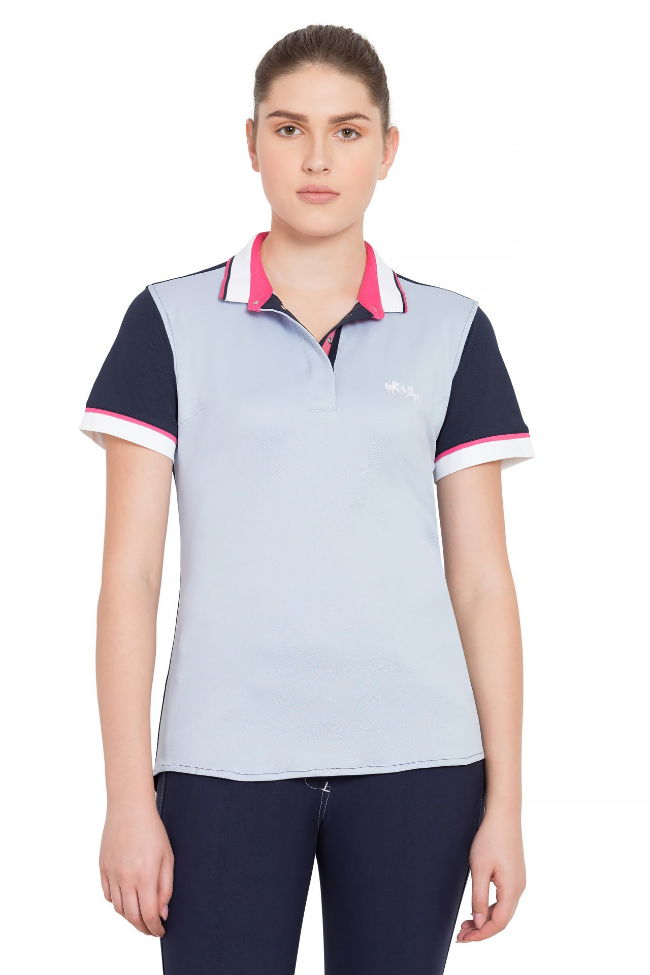 Ladies Pearl Short Sleeve Polo Sport Shirt - Equine Couture - Breeches.com