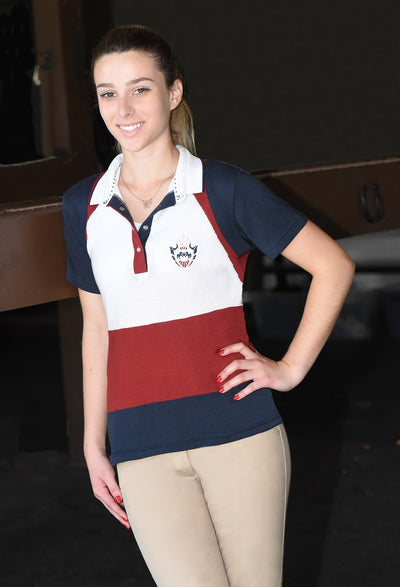 Equine Couture Ladies Calla Short Sleeve Sport Shirt - Equine Couture - Breeches.com
