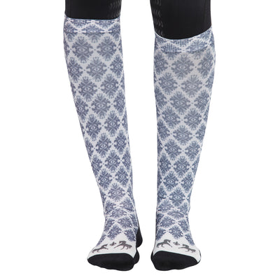 Equine Couture Ladies Tara Technical Padded Knee Hi Boot Socks_2