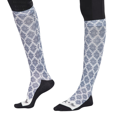 Equine Couture Ladies Tara Technical Padded Knee Hi Boot Socks_1