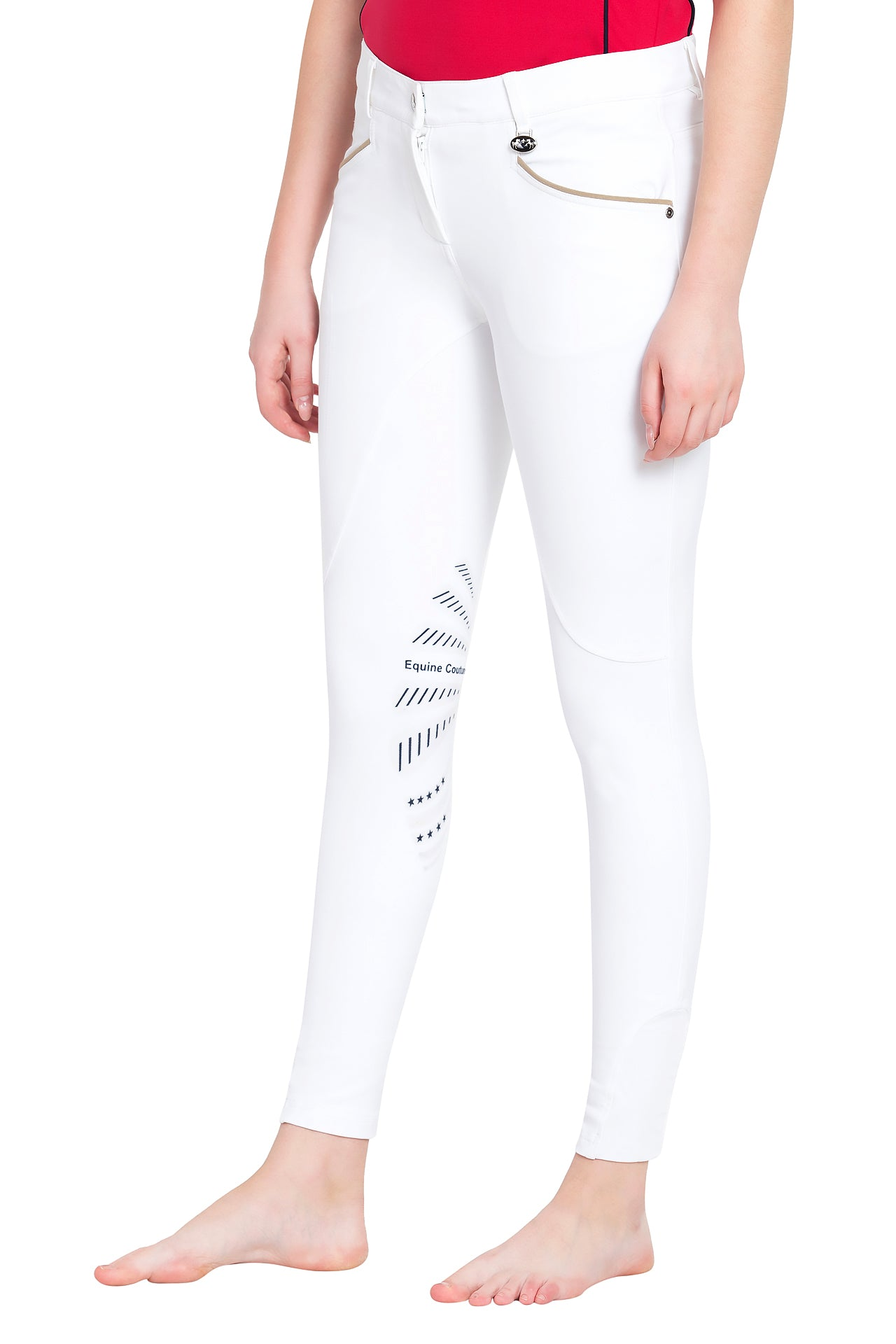 Ladies Lille Knee Patch Breeches - Equine Couture - Breeches.com
