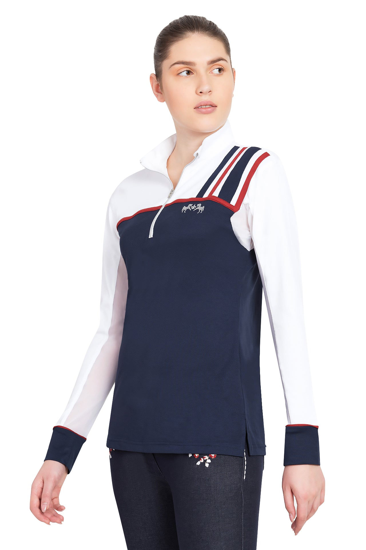 Equine Couture Ladies Nicole EquiCool Long Sleeve Show Shirt_1