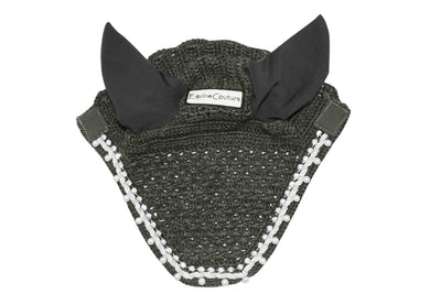 Equine Couture Fly Bonnet with Pearls and Crystals - Breeches.com