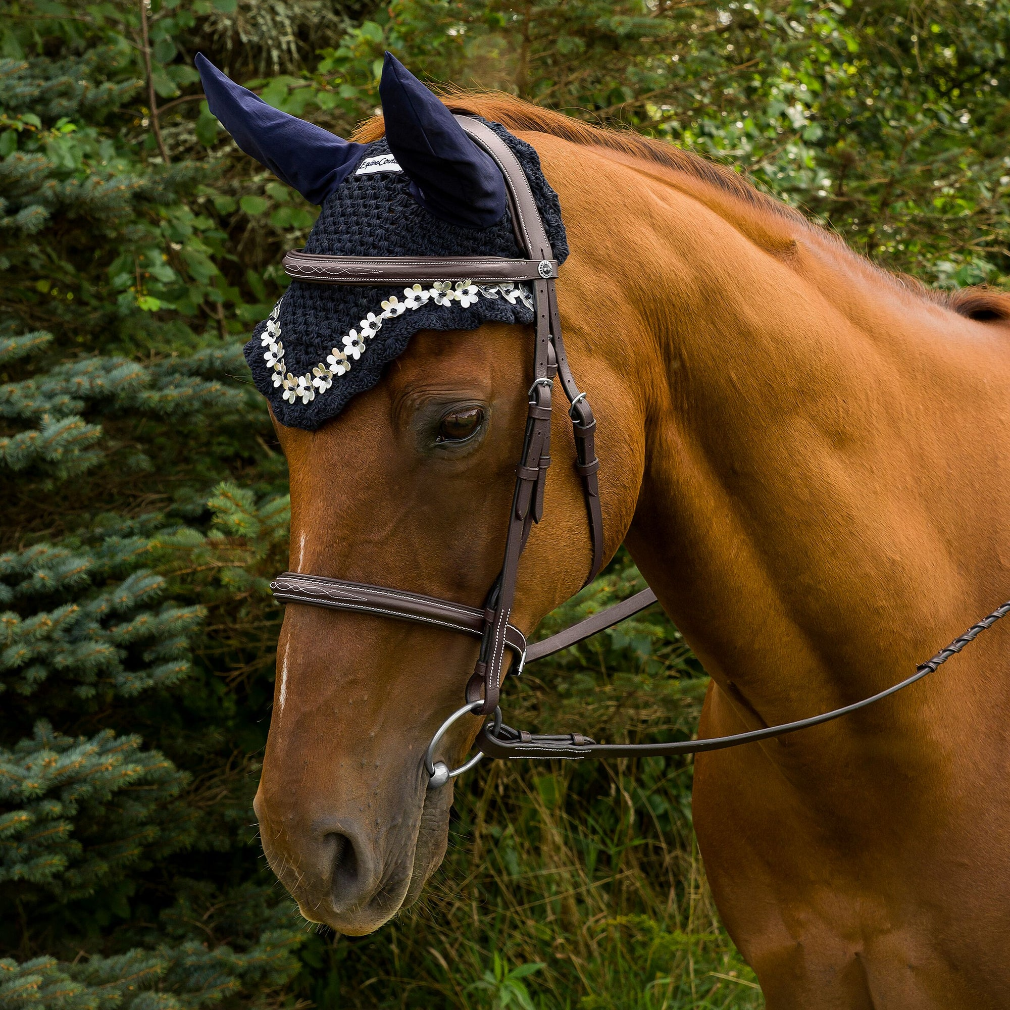 Equine Couture Floral Fly Bonnet - Breeches.com
