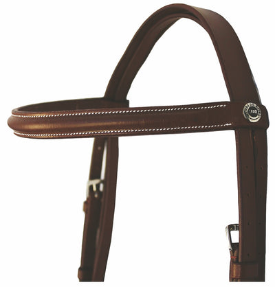 Henri de Rivel Pro Plain Raised Bridle with Laced Reins_3
