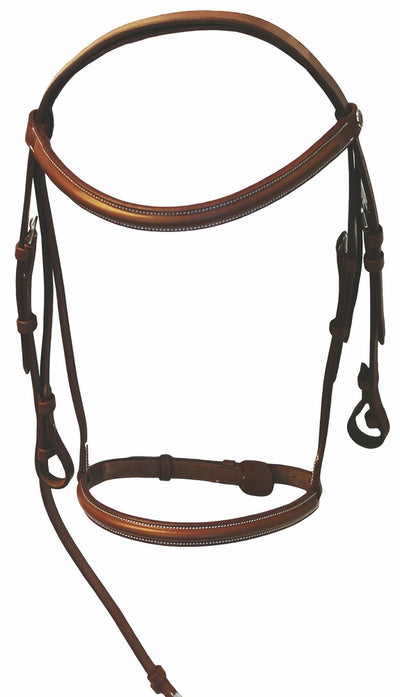 Henri de Rivel Pro Plain Raised Bridle with Laced Reins_1