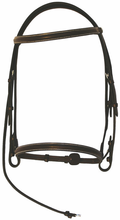 Henri de Rivel Pro Plain Raised Bridle with Laced Reins_7