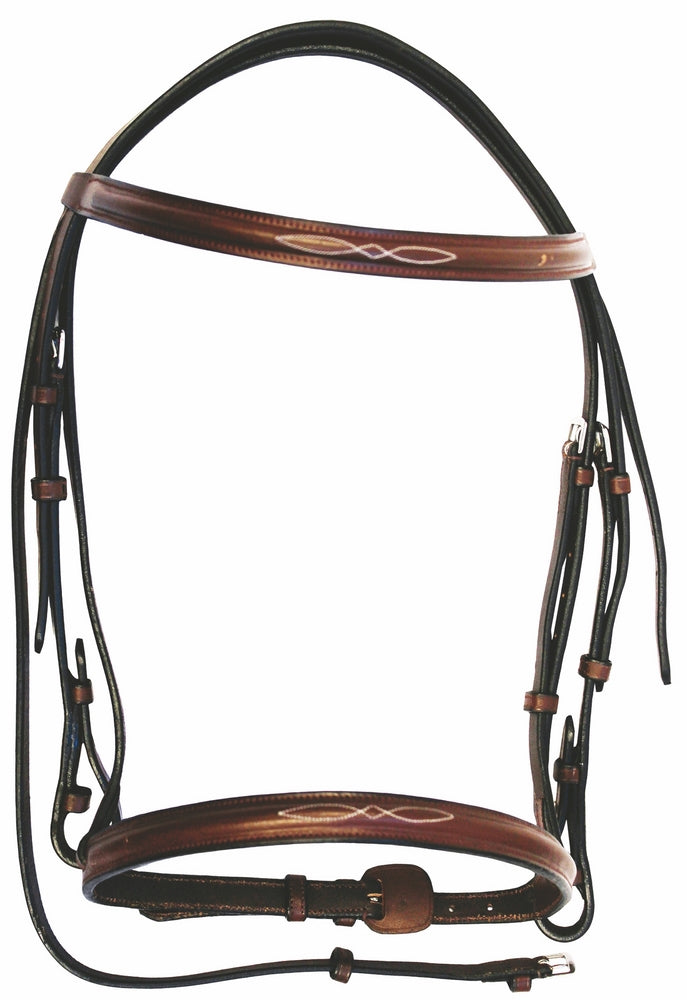 Henri de Rivel Advantage Fancy Raised Snaffle Bridle With Laced Reins - Henri de Rivel - Breeches.com