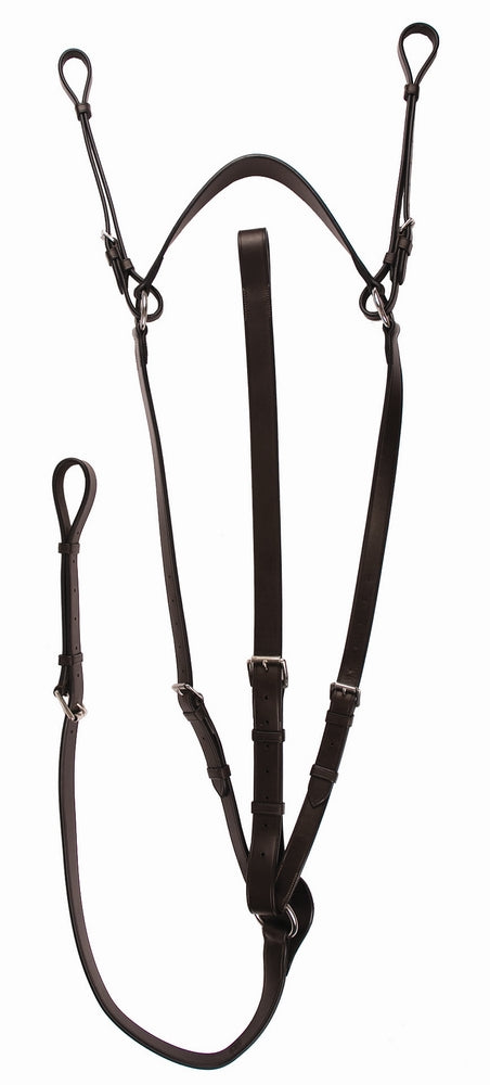 Henri de Rivel Advantage Flat Breastplate Martingale with Standing Attachment - Breeches.com