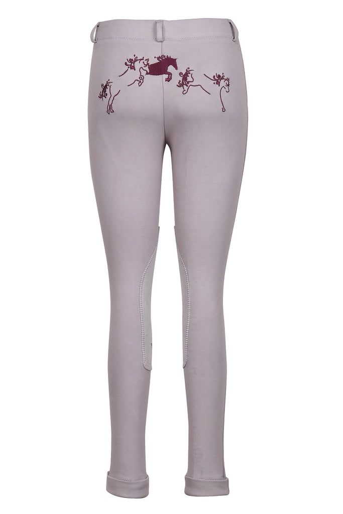 TuffRider Children's Whimsical Horse Embroidered Pull-On Jodhpurs_1