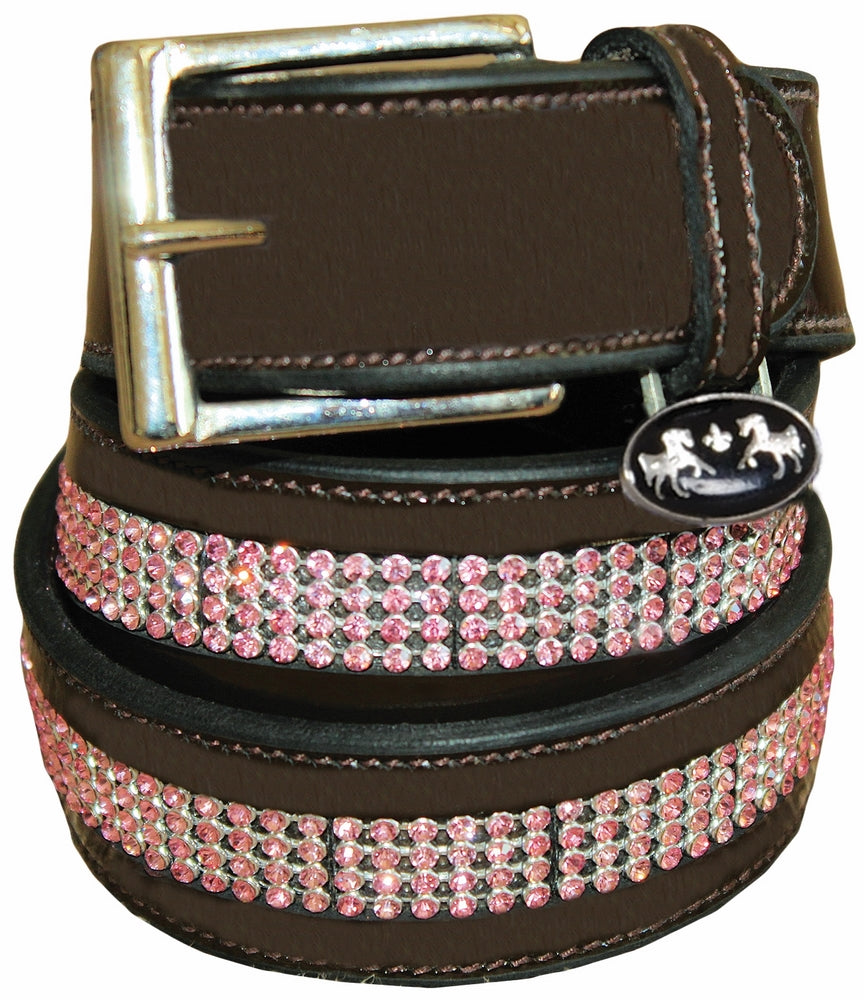 Equine Couture Bling Leather Belt - Regular Leather