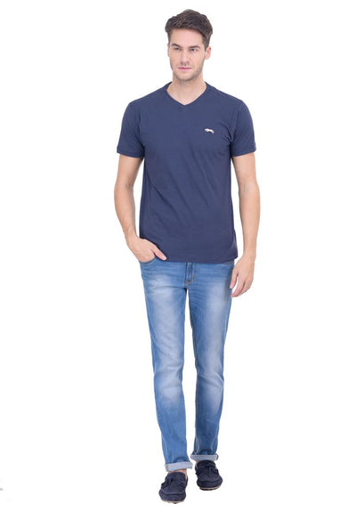 JUMP USA Tony Men's V-Neck Short Sleeve Regular Fit T-Shirt - Breeches.com