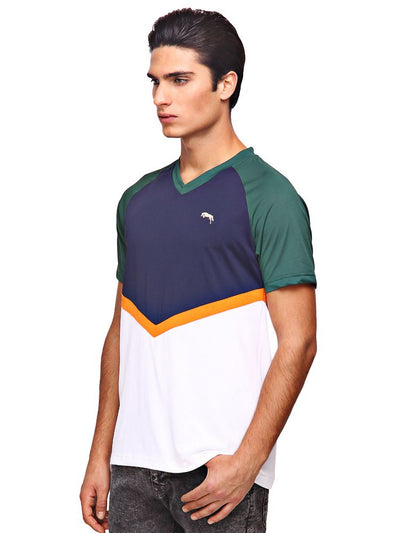 JUMP USA Pierce Mens V-Neck Short Sleeve Regular Fit T-Shirt - JUMP USA - Breeches.com