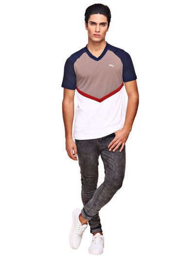 JUMP USA Pierce Mens V-Neck Short Sleeve Regular Fit T-Shirt - Breeches.com