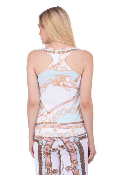 JumpUSA Italia Ladies Scoop Neck Tank Top - JUMP USA - Breeches.com