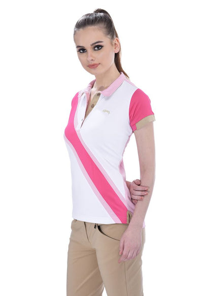 JUMP USA Oceanic Ladies V-Neck Short Sleeve Regular Fit Polo Shirt_8