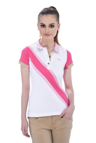 JUMP USA Oceanic Ladies V-Neck Short Sleeve Regular Fit Polo Shirt_7
