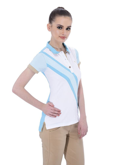 JUMP USA Oceanic Ladies V-Neck Short Sleeve Regular Fit Polo Shirt_4