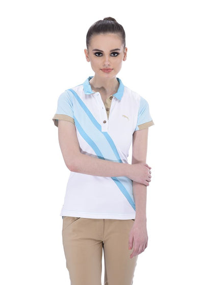 JUMP USA Oceanic Ladies V-Neck Short Sleeve Regular Fit Polo Shirt_1