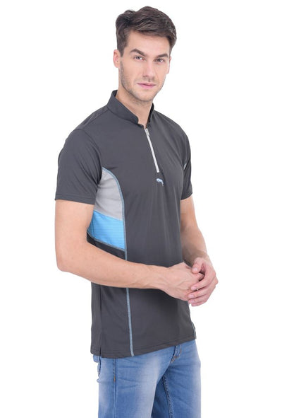 JUMP USA Neon Men's V-Neck Short Sleeve Regular Fit Ventilated T-Shirt - Breeches.com