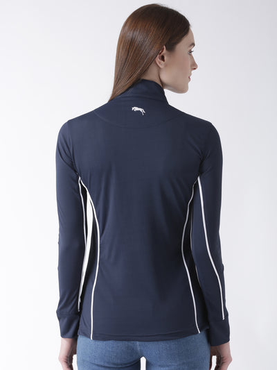JUMP USA Captain Ladies Long Sleeve Regular Fit Zip Front T-Shirt - JUMP USA - Breeches.com