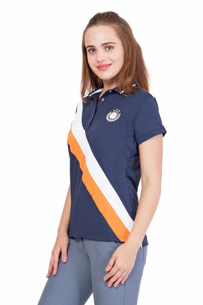 JUMP USA Aztec Ladies Short Sleeve Regular Fit Polo Shirt - JUMP USA - Breeches.com
