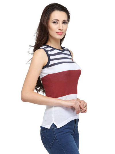 Candy Top Ladies Sleeveless Relaxed Fit T-Shirt - JUMP USA - Breeches.com
